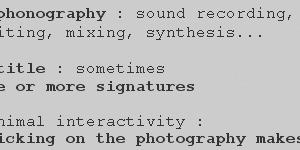 Macrosillons participe à Phono Photo - Collection n°8 : Décembre 2010